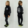 Детский черный спортивный костюм Конверс унисекс, р.122-152
