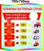 Стенд «Телефоны экстренных служб»