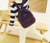 Замшевый женский рюкзак. Бордо