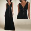 РАСПРОДАЖА! Черное платье с бантом на поясе