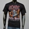 Футболка AC/DC с коротким рукавом, черная. Материал: 100% хлопок.