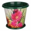 Горшок для цветов «Цветочный блюз» 1л с подставкой Альтернатива