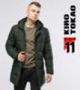 11 Kiro Tokao | Длинная мужская куртка 6006 зеленый