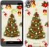 Чехол на HTC Desire 820 Новогодняя елка «4198c-133-9980»