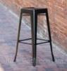 Металлический барный стул-табурет Tolix Bar Stool AC-012 черный, лофт,  дизайн Xavier Pauchard