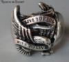 Кольцо для мужское из стали для байкера, крылья 20р