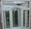 Вікно металопластикове з українського профілю 1300х1400 мм двустулкове