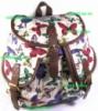 Рюкзак женский городской молодёжный модный тканевый Бабочки. Хит продаж