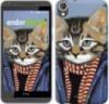 Чехол на HTC Desire 820 Кот в одежде «4029c-133-9980»