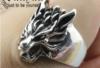 Кольцо для мужское из стали, голова волка 20р