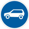 Предписывающие знаки дорожного движения 4.11(Движение легковых автомобилей)