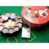 Покерный набор (2 колоды карт +240 фишек+сукно)(d-25. h -8,5 см)(вес фишки 4 гр. d-39 мм) Код:26727