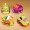 Игровой набор – ЗАБАВНЫЙ АВТОПАРК (4 резиновые машинки-погремушки) от Battat - под заказ