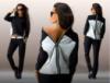 Женский спортивный костюм. Кофта на молнии. Штаны с карманами по бокам, цвет чёрный