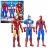 Три супергероя Marvel.