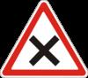 Предупреждающие знаки  1.21(Перекресток равнозначных доpог)
