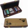 Покерный набор на 100 фишек в деревянном сундучке Код:3913582