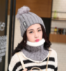 13-24 Зимняя женская шапка теплая Цвет - серый
