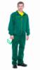 Рабочая куртка и брюки зеленого цвета с желтым кантом