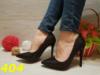 Женские классические туфли лодочки черные с голографическими блестками, р.36,37,40