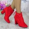 Ботинки на каблуке красные