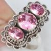 -30% Серебряное кольцо с розовым ТУРМАЛИНом