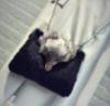 Меховая сумочка чёрная. Женская сумка из меха