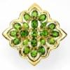 Серебряное кольцо 925 позолота ХРОМДИОПСИДЫ размер 17,25