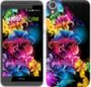Чехол на HTC Desire 820 Абстрактные цветы «511c-133-9980»
