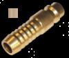 Адаптер с ниппелем на шланг 12,5мм - латунь