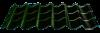 Металлочерепица  «Rauni» мини, покрытие полиэстер