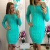Вязаное платье Турция 3187 СВ кроме черн Код:443116014