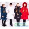 Куртка-пальто зимняя с натуральным мехом рост от 122 до 146 см