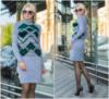 Теплое вязаное платье из мягкой и приятной к телу пряжи.