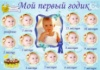 Плакат-коллаж «Мой первый годик» с фотографией