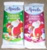 Шоколад Alpinella, 90г. Польша, молочный шоколад с арахисом и изюмом в новогоднем стиле
