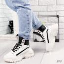 Ботинки женские Sorrow белый + черный