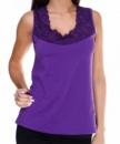Майка женская 303-4 хлопковая фиолетовая