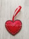 Новогодняя игрушка из фетра Сердце