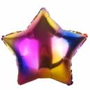 Фольгированный шар звезда градиент 18'' 44 см