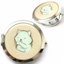 Карманное зеркало «Бирюзовый котик»
