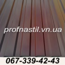 Профнастил коричневый Винница
