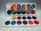 Краска акварель 12 цветов