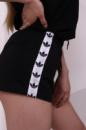 Шорты женски Adidas с бело-чёрными лампасами