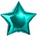 звездочка с гелием цвета тиффани (45 см)