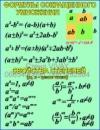 Стенд в класс математики «Формулы сокращенного умножения»