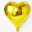 Шар сердце фольгированное золотое 18'' 45 см