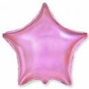 Звезда розовая металлик с гелием (45 см)