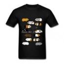 Мужские Футболки Морских Свинок Смешные Мужчины Clothing Новый Бренд Каваи tshirt Графический Топ Повседневная Коротким
