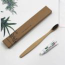 Зубная щетка, из натурального бамбука с мини-пастой, в коробке, 1 шт